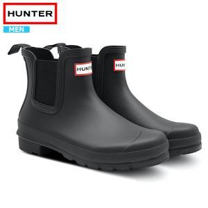 ハンター レインブーツ メンズ サイドゴアブーツ 長靴 雨 防水 HUNTER MENS ORIGI...