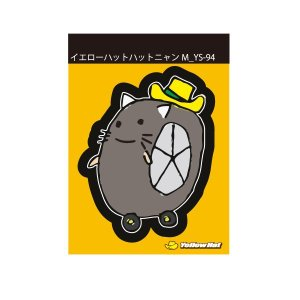 イエローハットオリジナルステッカー イエローハット ハットニャンYS−94 M|yellowhat