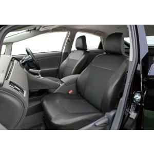 錦産業 専用レザー&パンチングシートカバー 30系プリウス用 PL-0110 ブラック|yellowhat