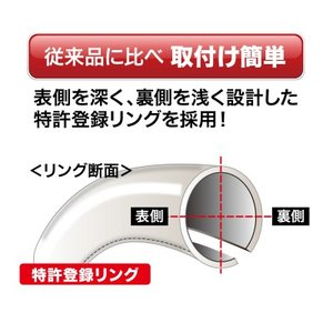 ボンフォーム ハンドルカバー ツーリングSサイズ ブラック 6881-01|yellowhat|03