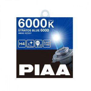 PIAA ストラトスブルー 6000K H4 HZ501ハロゲンバルブ|yellowhat