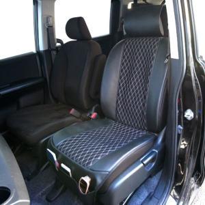 錦産業 キルティングメッシュ 前席用シートカバー ブラック/グレー MQ-9961|yellowhat