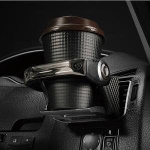 カーメイト ダンパー内蔵ドリンクホルダー カーボン調ブラック/ブラックメッキ DZ435|yellowhat|02