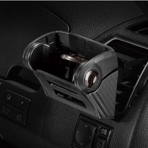 カーメイト ダンパー内蔵ドリンクホルダー カーボン調ブラック/ブラックメッキ DZ435|yellowhat|03