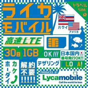 アメリカSIM Lycamobileが提供するアメリカ・ハワイで利用できるSIMカードです。 解約手...