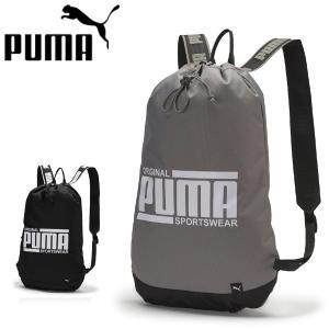 プーマ puma ナップサック ジムサック バッグ コンパクトリュック 軽量 薄手 メンズ レディース 男女兼用 シューズ袋 075818 メール便も対応|yf-ing