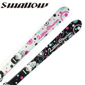 【送料無料】swallow/スワローキッズ/ジュニア/ガールズ/スキー板/ビンディング付きLITTLE CHARM+LOOK TEAM-4|yf-ing