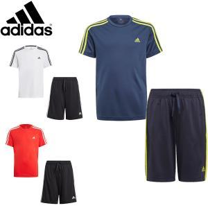 アディダス adidas ジュニア Tシャツ ハーフパンツ 上下セット サマーセットアップ 半袖Tシャツ ショーツ 吸汗速乾 29256 メール便も対応 GN1491 GN1492 GN1493|yf-ing