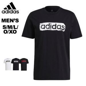 アディダス adidas メンズ 半袖Tシャツ コットンTシャツ 綿Tシャツ M BRSHSTRK V4 グラフィックTシャツ  31438 メール便も対応 GL3034 GL2862|yf-ing
