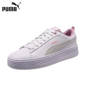 プーマ puma レディース厚底スニーカー スマッシュプラットフォーム L 女性用カジュアルシューズ 靴 366487 あすつく対応_北海道|yf-ing
