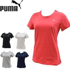 プーマ puma 半袖Tシャツ レディース エッセンシャル 定番シンプルワンポイントTシャツ コットン 綿100% 851251 メール便も対応|yf-ing