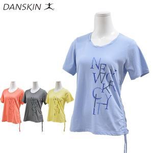 danskin ダンスキン Tシャツ レディース フィットネスウェア DB78153 メール便も対応|yf-ing