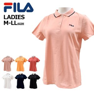 フィラ fila レディース ポロシャツ 半袖シャツ 女性  吸水速乾 UVケア 綿混紡 テニス FL6071  メール便も対応 yf-ing