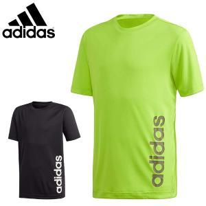 アディダス adidas ジュニア Tシャツ 半袖Tシャツ 吸汗速乾 ロゴTシャツ GER23 メール便も対応 yf-ing