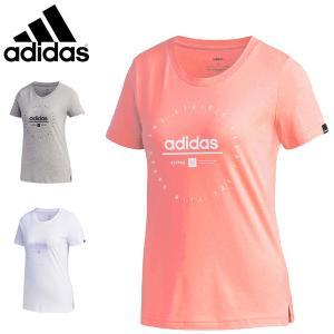 アディダス adidas レディース Tシャツ ショートスリーブ 半袖Tシャツ クロックTシャツ 綿Tシャツ GVC50 FM6149 FM6152 FM6151 メール便も対応 yf-ing
