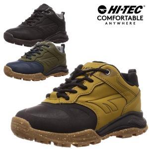 ハイテック メンズ スノトレ 滑らない 滑りにくい 冬 靴 冬靴 スノーブーツ スノーシューズ ウインター 防滑 防水 HI-TEC HT HKU24W アオラギEXPローWPG  BOSの画像
