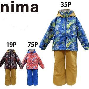スキーウェア キッズ ジュニア nima/ニーマ 上下セット/JR-6051/あすつく対応_北海道/スキー用品|yf-ing