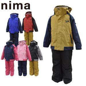 ニーマ nima スキーウェア キッズ ジュニア 上下セット JR-8058 雪遊び 100 110 120