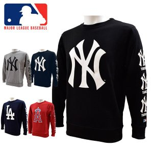 MLB公式ライセンス MAJOR LEAGUE BASEBALL OFFICIALLY LICENCED ヤンキース ドジャース エンジェルス スウェットシャツ メンズ MB86752 あすつく対応_北海道|yf-ing