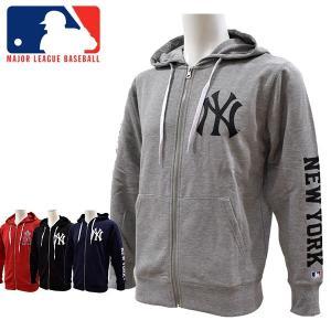 MLB公式ライセンス MAJOR LEAGUE BASEBALL OFFICIALLY LICENCED ヤンキース スウェットジャケット メンズ MB86754 あすつく対応_北海道|yf-ing