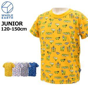 ホールアース wholeearth キッズ ジュニア Tシャツ 半袖 WES17K02-5714 メール便も対応|yf-ing
