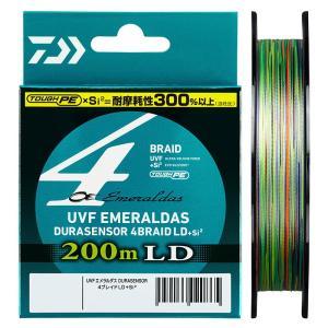 ダイワ UVF エメラルダス DURAセンサーX4 LD+Si2 200m 0.5号 / PEライン 4本 ボートエギング ティップラン イカメタル|yfto