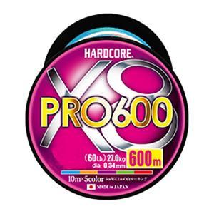 デュエル ハードコア X8 プロ 600m 8.0号 / PEライン 8本撚り 徳用ボビン巻き|yfto