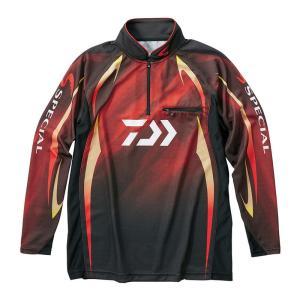 ダイワ DE-70009 スペシャル アイスドライ ジップアップ長袖メッシュシャツ マグマブラック M 鮎釣り yfto