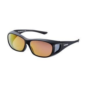 シマノ UJ-201S シマノオーバーグラス ブラウンピンクゴールドミラーxブラック / 偏光グラス サングラス メガネの上から|yfto