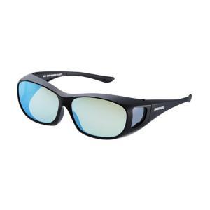 シマノ UJ-201S シマノオーバーグラス イエローブルーミラーxブラック / 偏光グラス サングラス メガネの上から|yfto