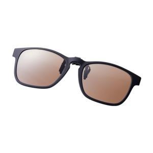 シマノ UJ-401S シマノクリップオン ブラウンxブラック / 偏光グラス サングラス メガネの上から|yfto