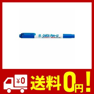 ゼブラ チェックペン アルファ 水性マーカー 青 WYT20-BL (×3 本)|yggdrasilltec
