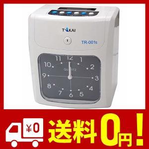 株式会社万通商事 TOKAI タイムレコーダー本体  6欄印字可能 両面印字モデル タイムカード50枚付き TR-001s|yggdrasilltec