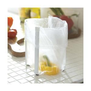 ■調理中に便利なポリ袋スタンド スーパーなどのポリ袋を掛けると簡易型ゴミ箱に。調理中に出る野菜クズや...
