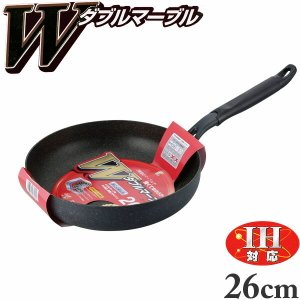 フライパン 深型 26cm IH対応 ダブルマーブル WR-5945