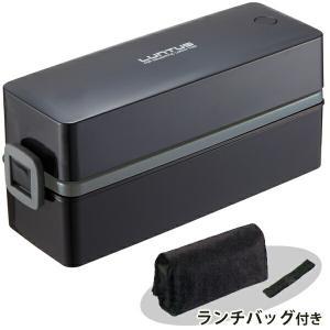 弁当箱 スリム ランタス ランチボックス 2段 SS-T600 (バッグ付) ブラック|yh-beans