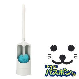 トイレ掃除用品 トイレバスボンくん ふさふさクリーナー ケース付 ( トイレブラシ )