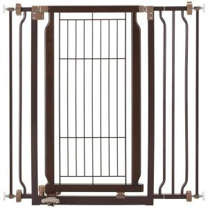 ペットゲート ベビーゲート ドア付き リッチェル ペット用木製ハンズフリーゲート ブラウン(BR)