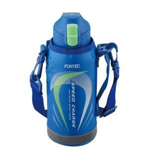直飲み 水筒 600ml フォルテック・スピード ワンタッチ栓ダイレクトボトル ブルー