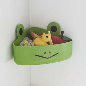 ■お風呂タイムを楽しく演出 お風呂のおもちゃを収納するアニマルモチーフの浴室収納。 お風呂のコーナー...