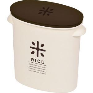 米びつ お米袋のままストック 5kg用 ブラウン RICE ...