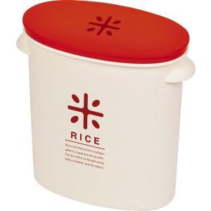 米びつ お米袋のままストック 5kg用 レッド RICE ( ライスストッカー ライスボックス )