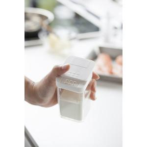 山崎実業 調味料入れ アクア 小麦粉&スパイスボトル まとめ買い4個セット ホワイト|yh-beans|04