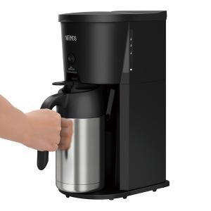 サーモス 真空断熱ポット コーヒーメーカー 630ml ブラック(BK) ECJ-700 yh-beans 08