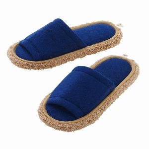 ■履くだけでお掃除できる! 裏面にマイクロファイバー繊維付きで、履いて歩くだけでお掃除ができるスリッ...