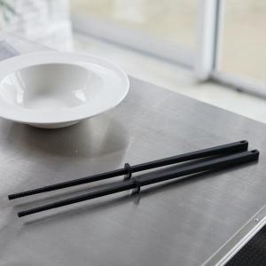 山崎実業 タワー シリコーン 菜箸 ブラック 4275