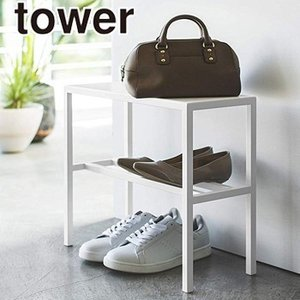 ベンチシューズラック タワー 玄関収納 椅子 ベンチ シューズラック 靴収納 げた箱 送料無料 山崎実業 LF570B09b000|yh-life-inc