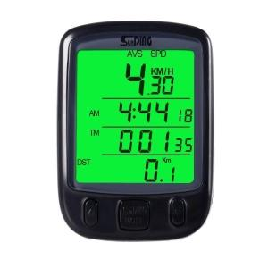 【送料無料】サイクルコンピューター YKS 自転車 スピードメーター LCD 防水 携帯便利