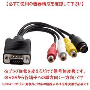 VGAオス から S端子と3RCAメスに変換する便利なケーブルです。 必ず下記注意書きをご覧頂き、ご...