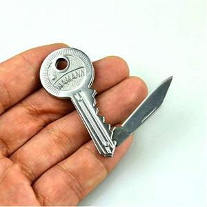 折りたたむと5.5cmなので超コンパクト 鍵型なのでキーホルダーに付けていても違和感なし キャンプや...